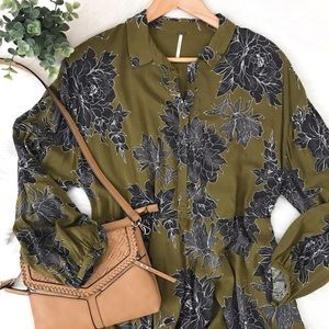 Free People Floral Tiered Tunic
